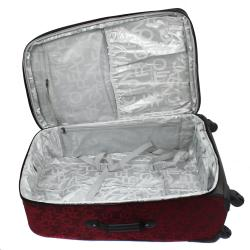 Kenneth Cole Reaction 'Taking Flight' Red 3-piece Expandable Spinner Luggage Set - Thumbnail 2