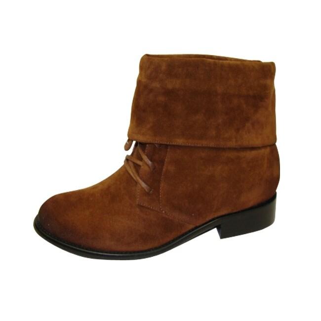Bucco Women's Tan Lace-up Boots