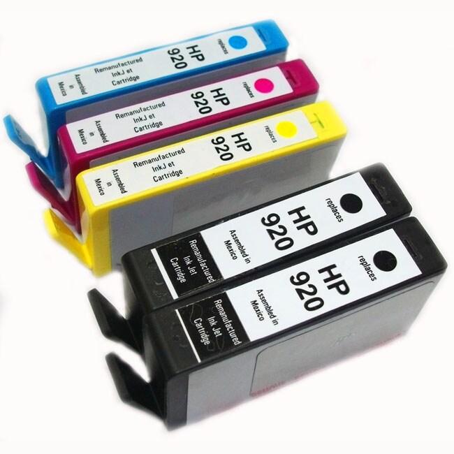 HP 920 Black/ Color Ink Cartridges (Remanufactured)  (Pack of 5)