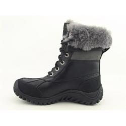 UGG Australia Women's Black/ Grey 'Adirondack' Snow Boots (Size 6)