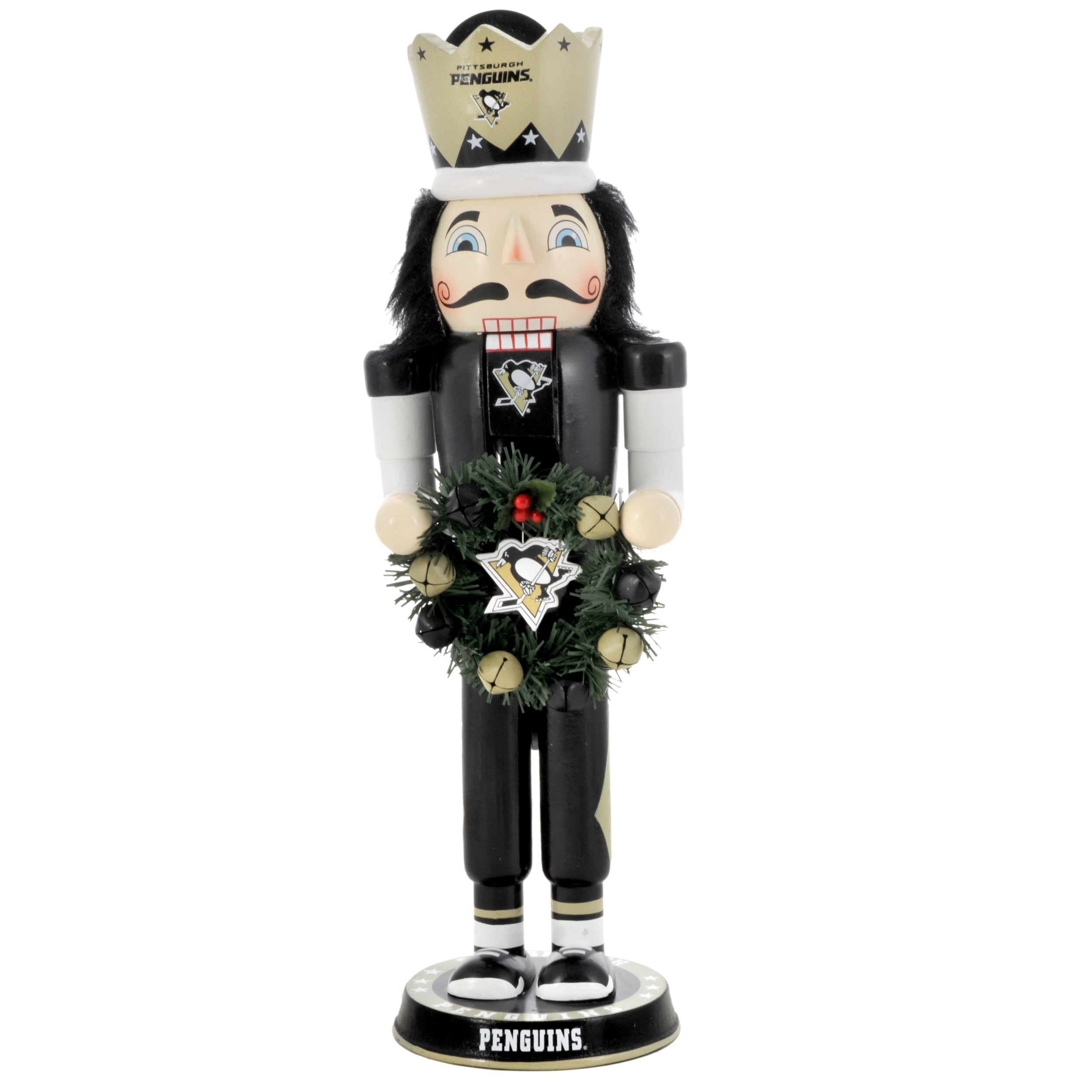 Pittsburgh Penguins Bedroom Decor Pittsburgh Penguins 14 Inch Wreath Nutcracker Free Shipping On