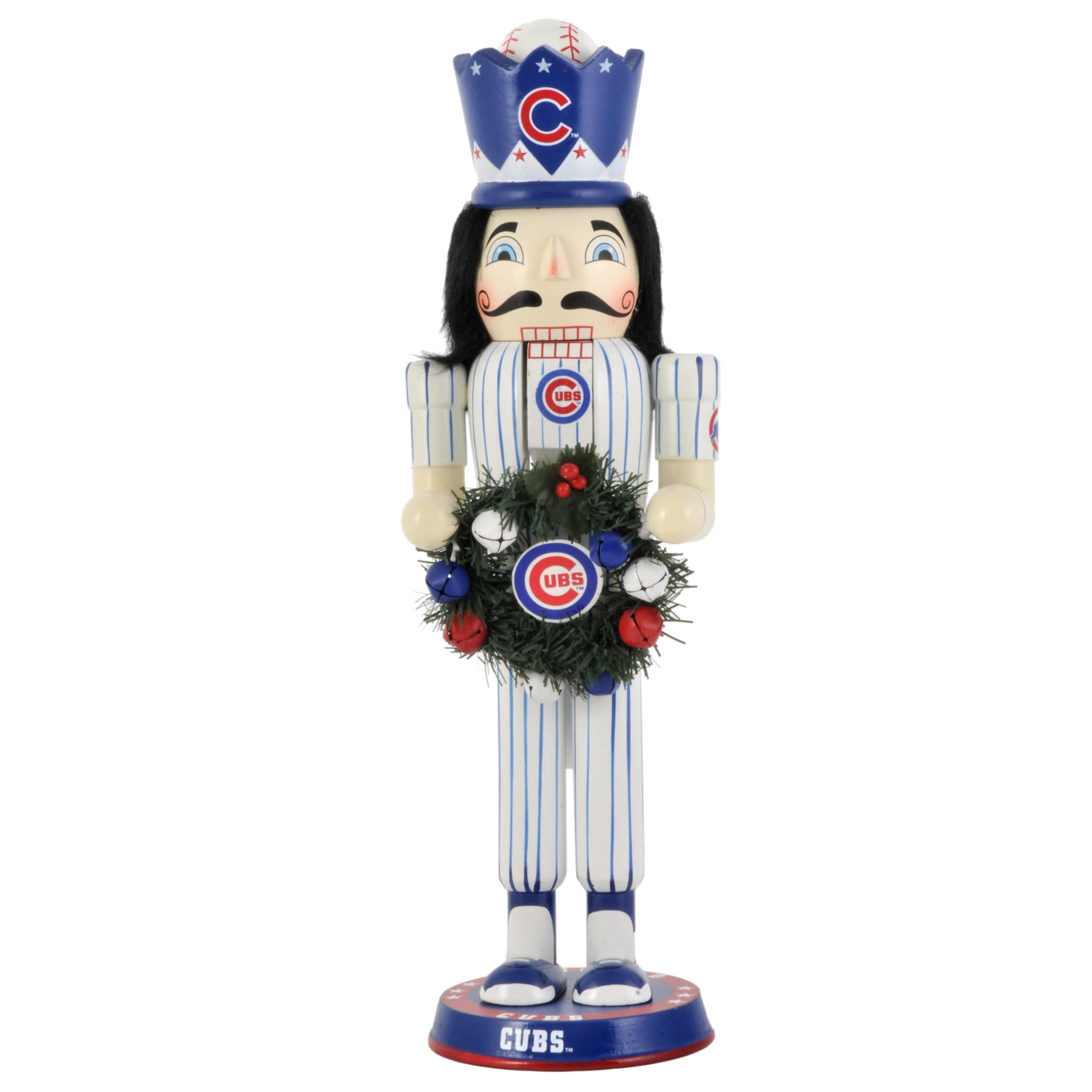 Chicago Cubs 14-inch Wreath Nutcracker