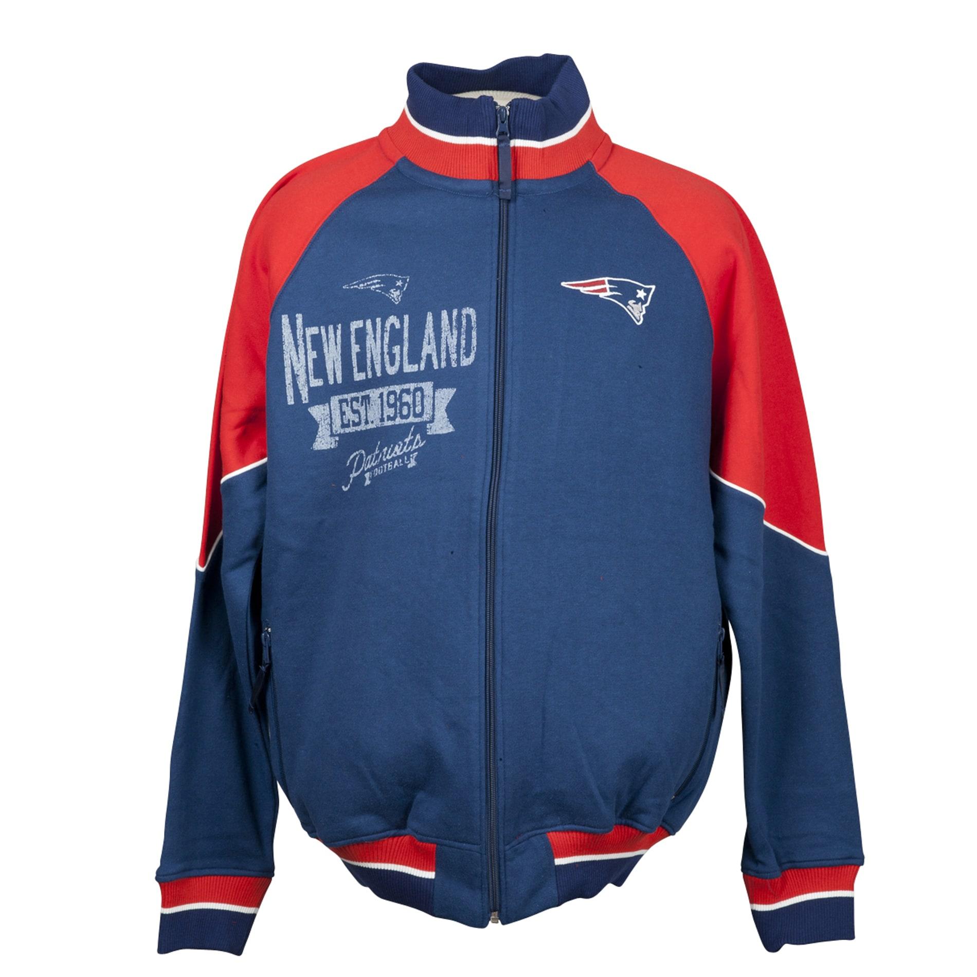 New England Patriots Full Zip Cotton Track Jacket