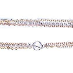 Annello by Kobelli 14k Tri-color Gold 1/5ct TDW Diamond Bracelet (G-H, SI1-SI2) - Thumbnail 1