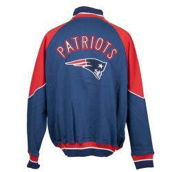 New England Patriots Full Zip Cotton Track Jacket - Thumbnail 1