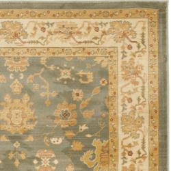 Safavieh Oushak Blue/ Cream Powerloomed Rug (5'3 x 7'6) - Thumbnail 1