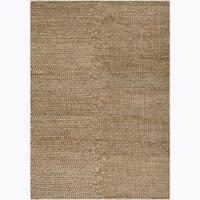 Artist's Loom Hand-woven Shag Rug - Tan - 5' x 7'6
