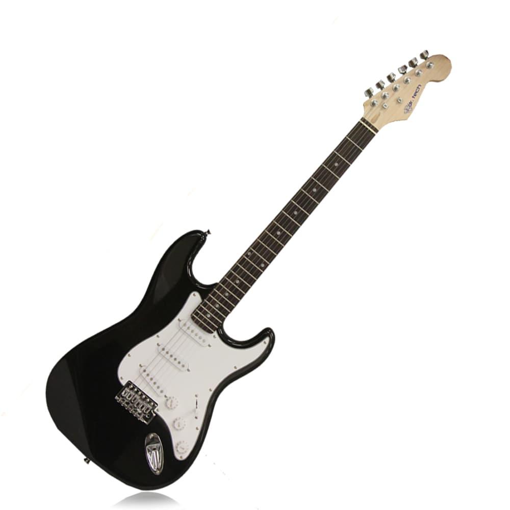 SVP dr. Tech Kids MS-X1 Distressed Tele Design Black/ White Electric Guitar