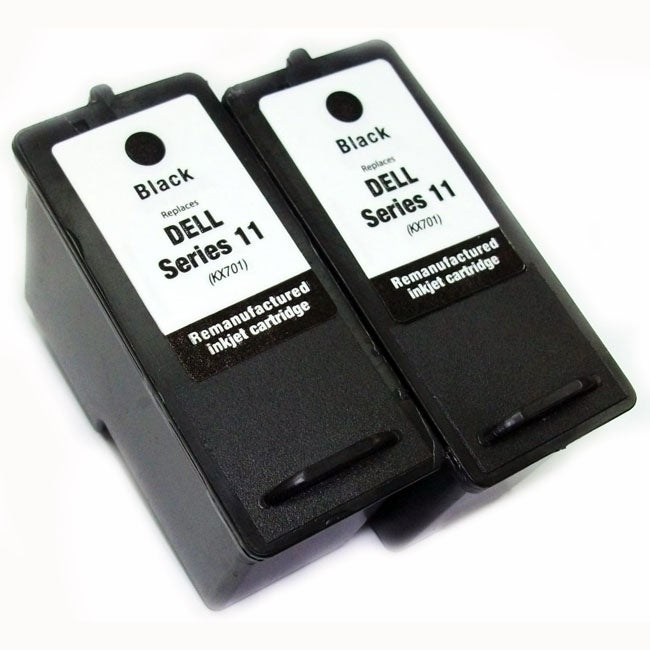 Dell Series 11 Black Ink Cartridges (Remanufactured) (Pack of 2)