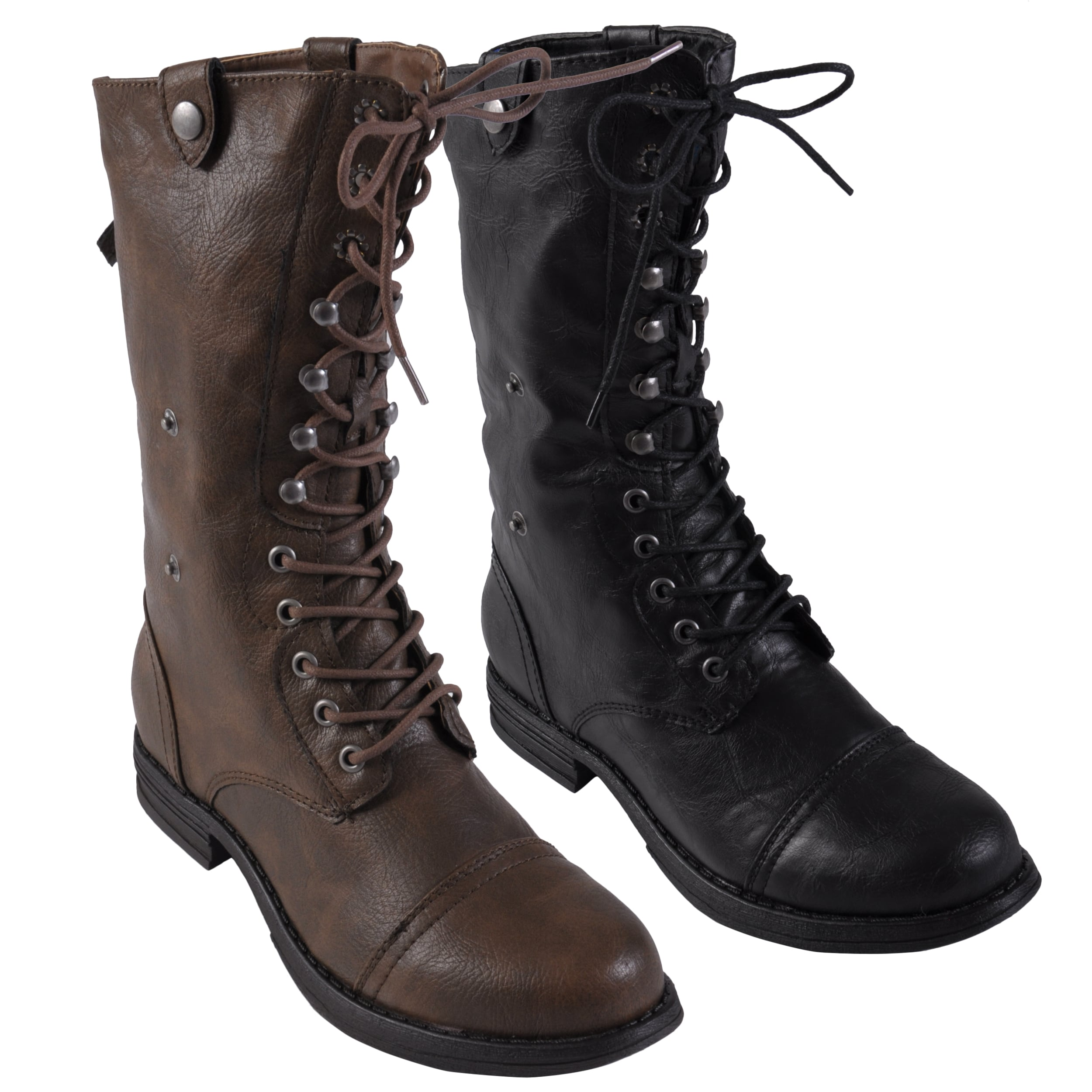 Madden Girl by Steve Madden 'Zorbaa' Lace-up Fold-over Boots