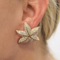 Michelle Monroe Tungsten Clear Crystal Starfish Earrings - Thumbnail 2