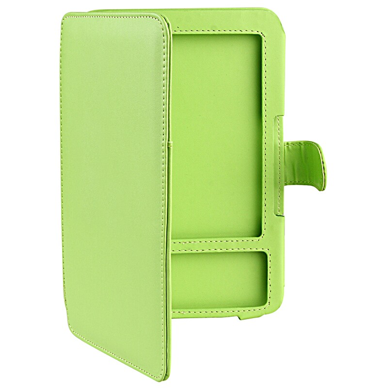 Green Leather Case with Interior Slip-pocket for Amazon Kindle 3