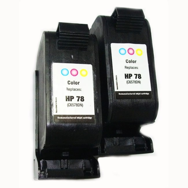 HP 78 Tri-color Ink Cartridges (Remanufactured) (Pack of 2)
