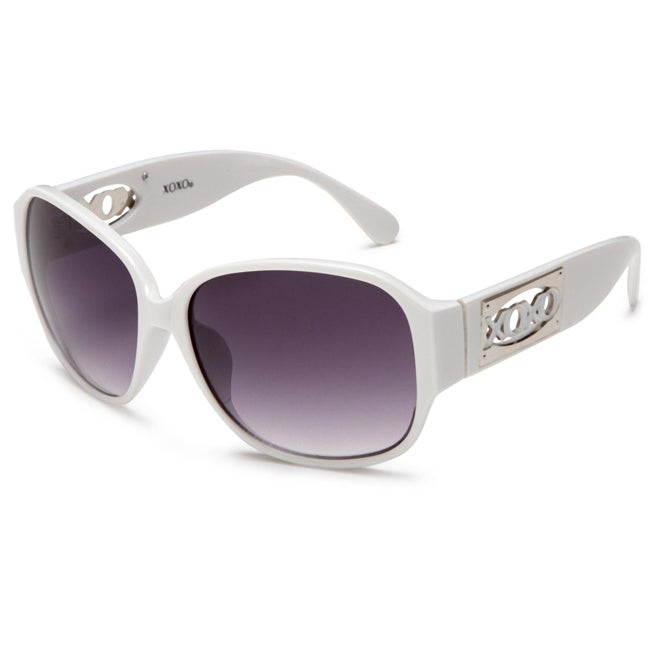 XOXO Women's 'Genesis White' Fashion Sunglasses