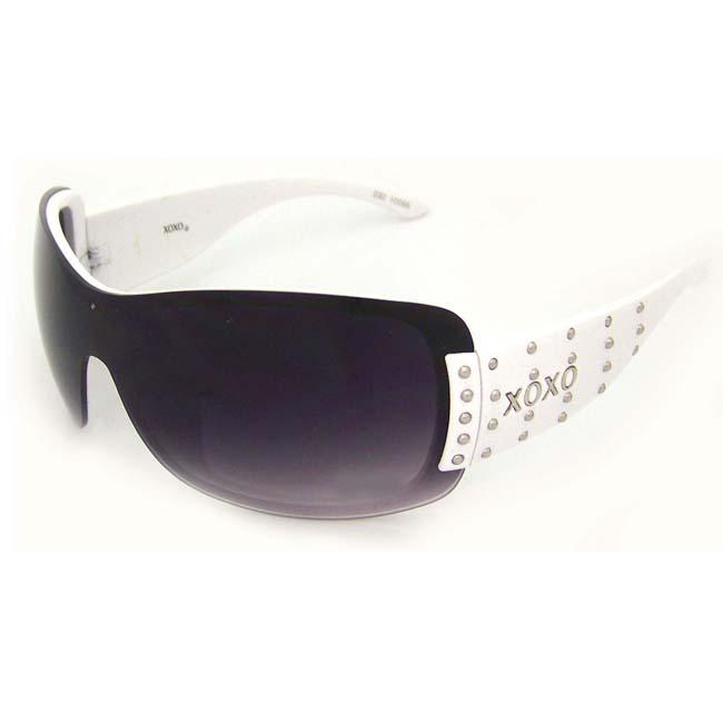 XOXO Women's 'Coco White' Shield Sunglasses