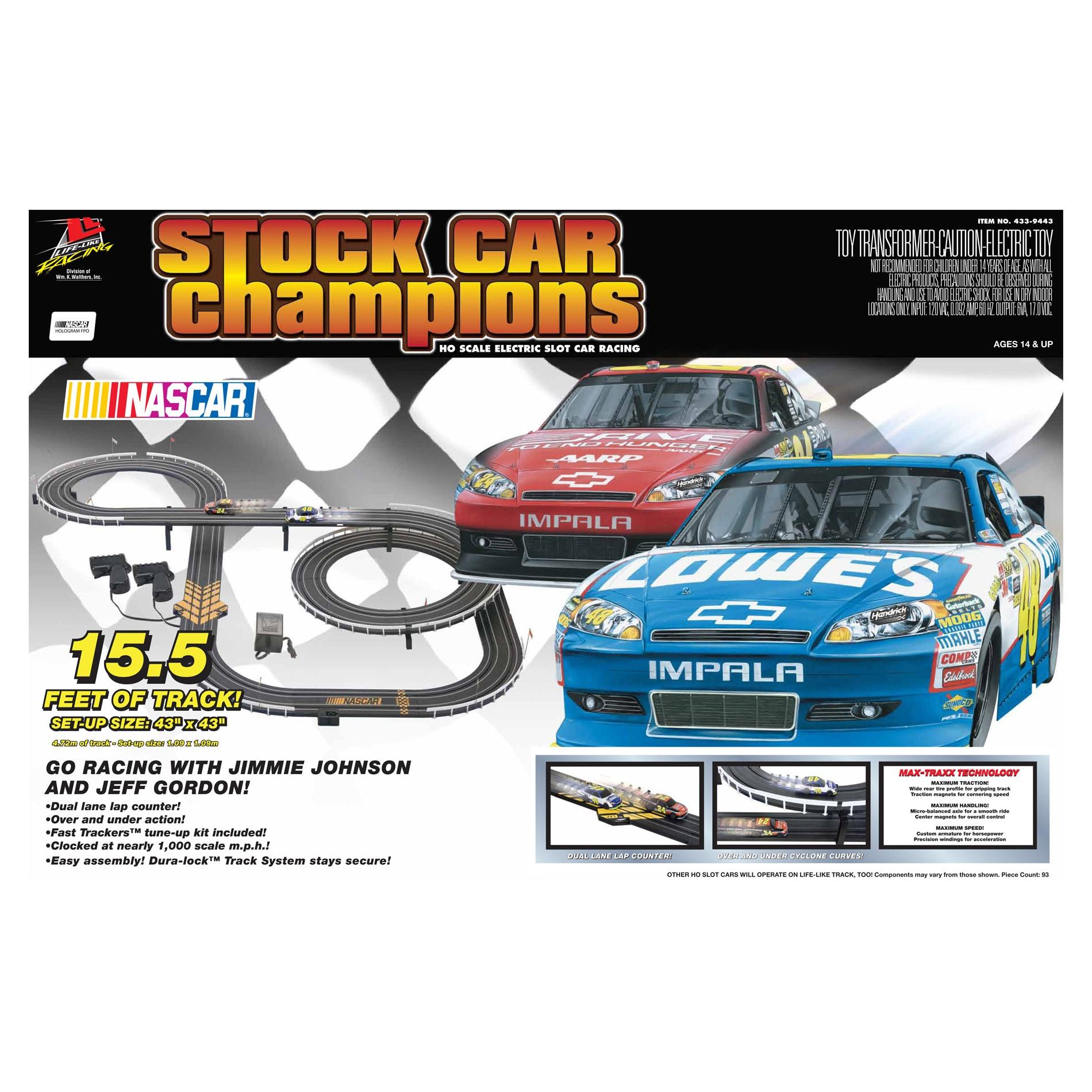Stock Car Champions Nascar Slot Car Racing Set