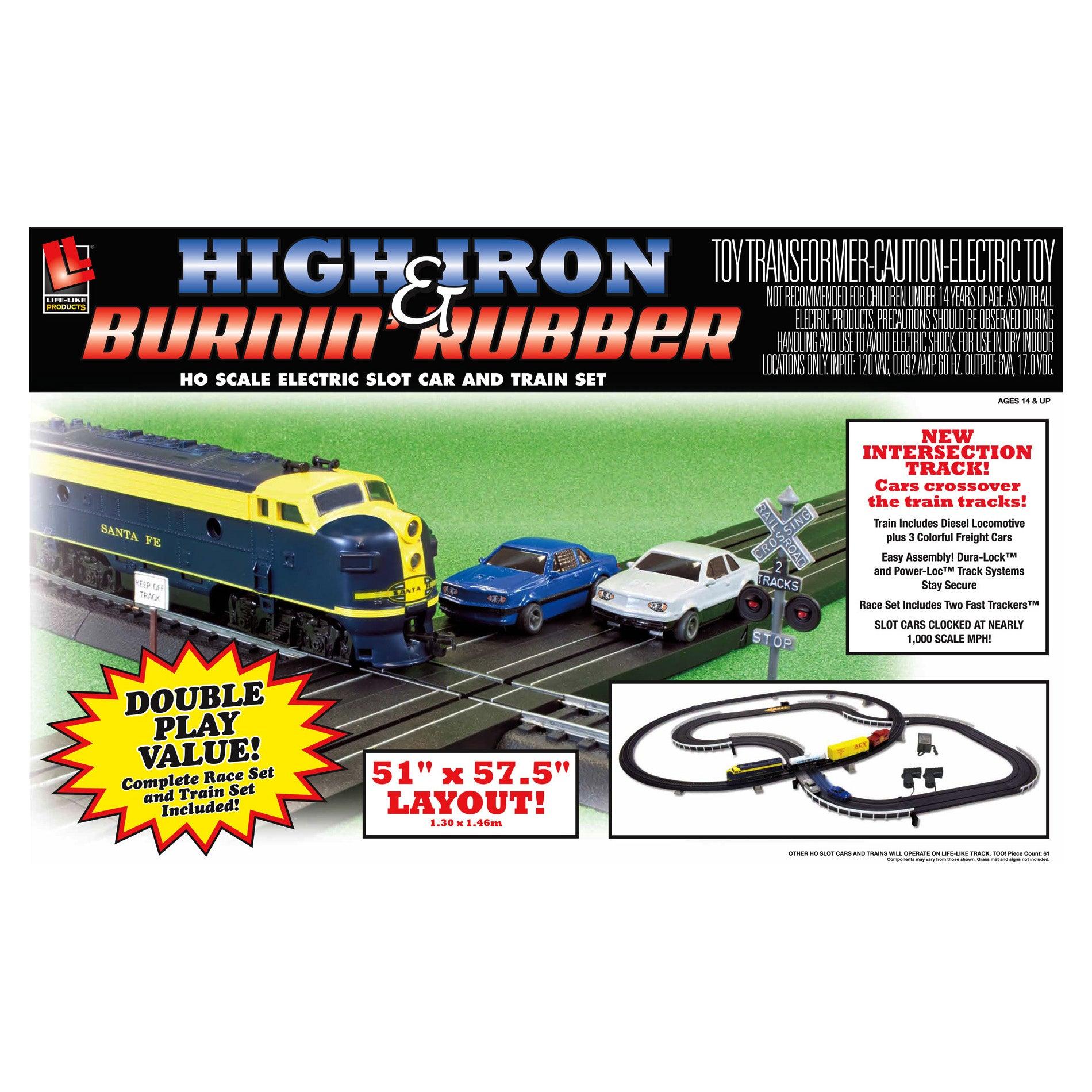 High Iron and Burnin Rubber Slot Car Racing Set