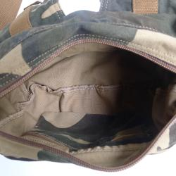 Camouflauge 'Squadron' 13-inch Washed Cotton Canvas Duffel Bag - Thumbnail 2