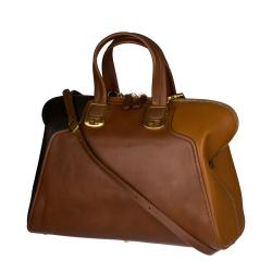 Fendi 'Chameleon' Brown/ Camel Tri-tone Leather Tote Bag