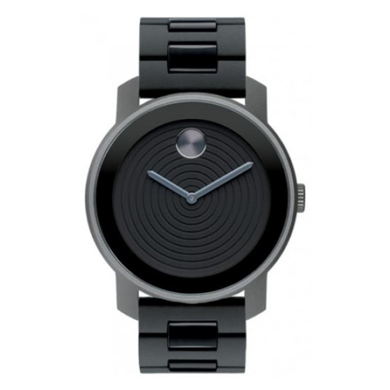 Movado Men's 'Large Bold' Black Aluminum Watch