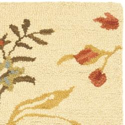 Safavieh Handmade Blossom Beige Wool Rug (2' x 3') - Thumbnail 1