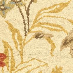 Safavieh Handmade Blossom Beige Wool Rug (2' x 3') - Thumbnail 2