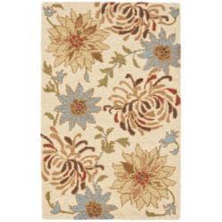 Safavieh Handmade Floral Blossom Beige Wool Rug (3' x 5')