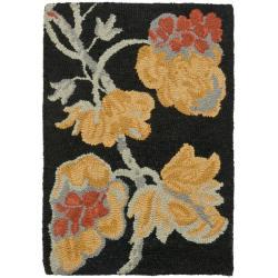 Safavieh Handmade Blossom Rust Wool Rug (2' x 3')