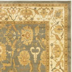 Safavieh Oushak Blue/ Cream Powerloomed Rug (8' x 11') - Thumbnail 1