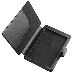 Black Leather Case/ LCD Protector/ Headset/ Cable for Amazon Kindle 4 - Thumbnail 1