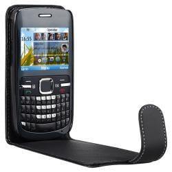 Black Leather Case for Nokia C3