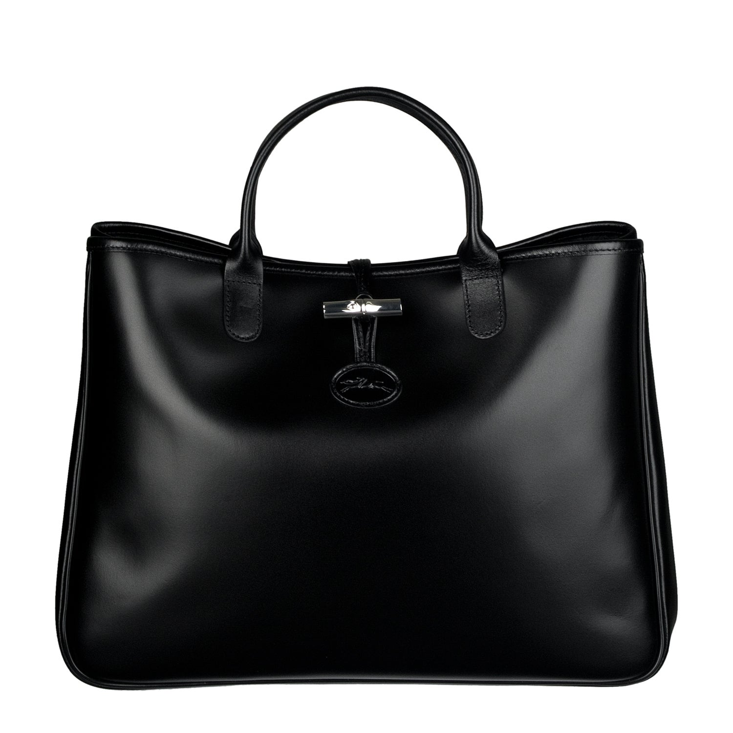 388a18640da Shop Longchamp 'Roseau East West' Leather Tote Bag - Free Shipping Today -  Overstock - 6417627