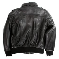 United Face Boy's Lambskin Leather Biker Jacket - Thumbnail 1