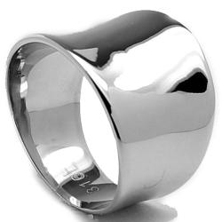Oliveti Stainless Steel Polished Cigar Ring (Option: 7)