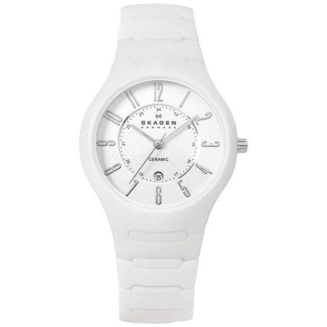 Skagen Women S Ceramic White Ceramic Watch Free Shipping