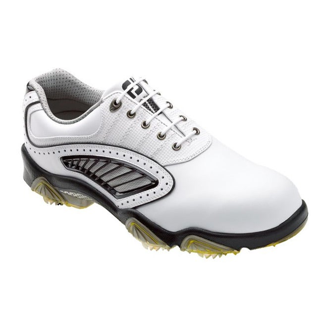 3b552adf9fba Shop FootJoy Men s SYNR-G Vent White  Black Golf Shoes - Free Shipping Today  - Overstock - 6421437