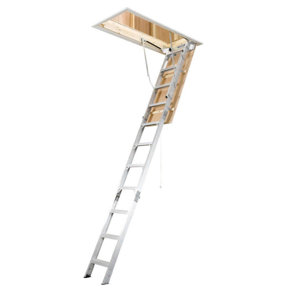 Werner 54-inch Aluminum Attic Ladder - Thumbnail 0
