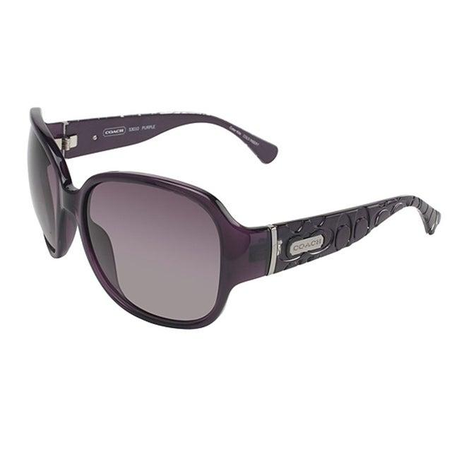 a981bdc70b Shop Coach Women s S 3010 Purple Sunglasses - Free Shipping Today -  Overstock.com - 6421862