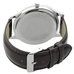 Geneva Platinum Women's Brown Simulated Patent Leather Watch - Thumbnail 1