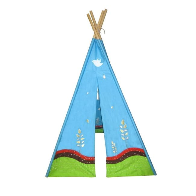 Eco 6-foot Sky and Earth Embroidered Teepee