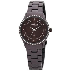 Skagen Women's 347SDXD Glitz Brown Stainless Steel Watch