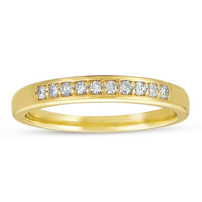 10k Yellow Gold 1/6 ct TDW Diamond Wedding Band (G-I, I1-I2)
