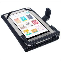 SKQUE Barnes & Noble Nook Color/ Nook Tablet Leather Case - Thumbnail 1