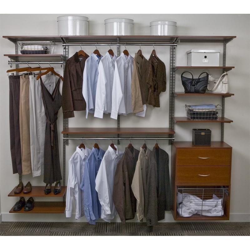 Organized Living freedomRail 8-foot Cherry Wood Closet Kit