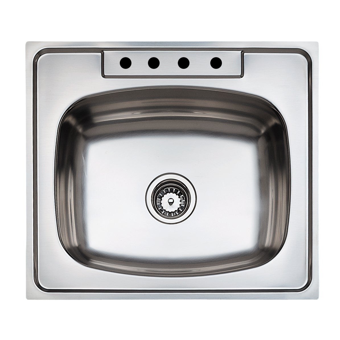 Teka Stainless Steel 25 Inch Top Mount Single Bowl Kitchen Sink
