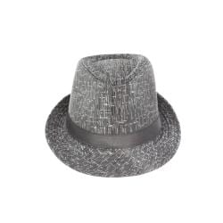 Faddism Unisex Grey/Silver Fedora Hat