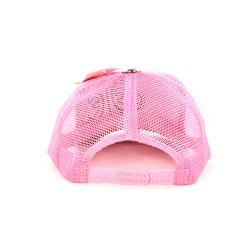 Faddism Unisex Pink/White Checkered Fashion Baseball Cap
