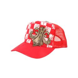 Faddism Unisex Red Square Design Baseball Cap - Thumbnail 2