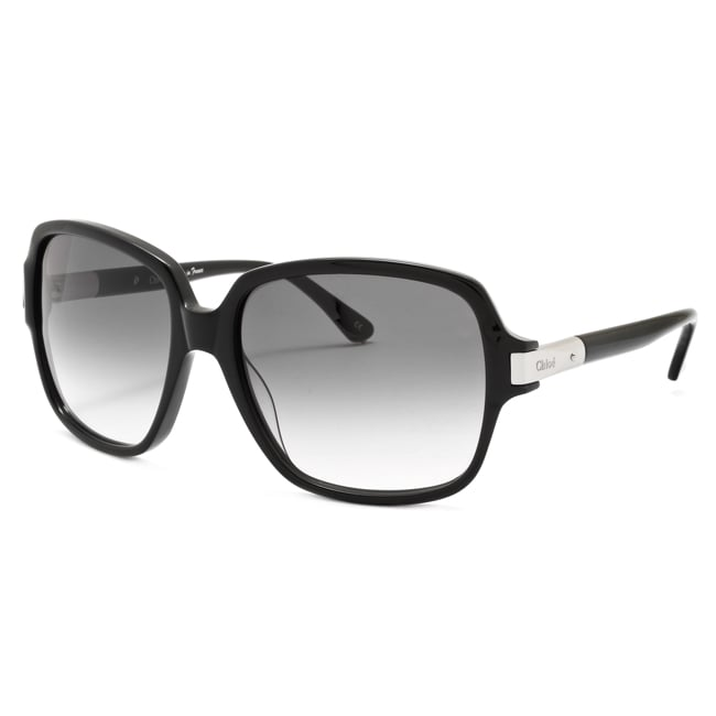 8eb5e93ec4f55 Shop Chloe Women s  Ammi  Black Fashion Sunglasses - Free Shipping Today -  Overstock.com - 6425221
