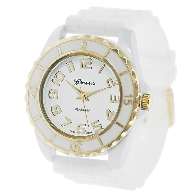Geneva Platinum Women's Chronograph-style Silicone Watch